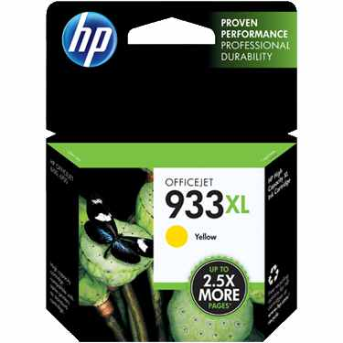 HP 933XL Yellow Ink Cartridge - HP Genuine OEM (Yellow)