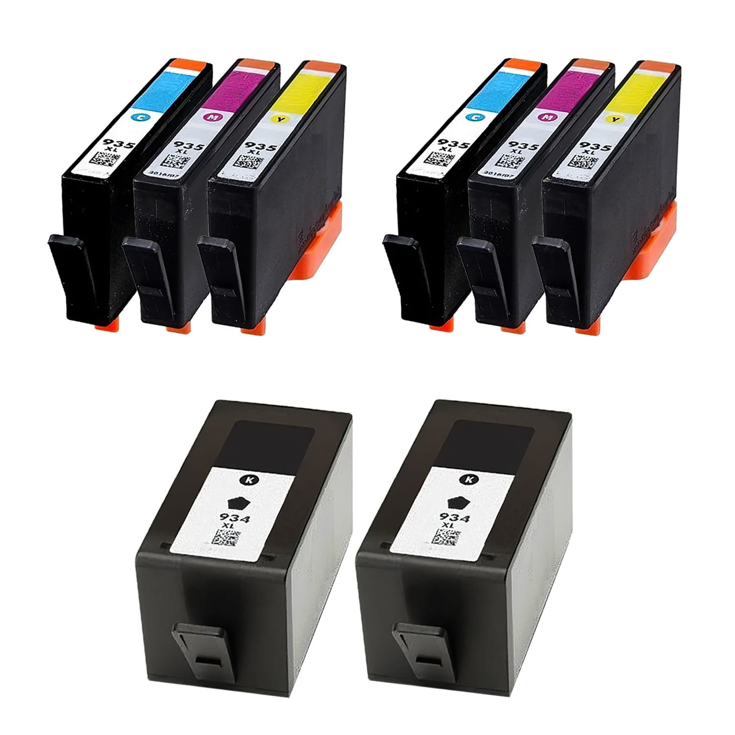 Remanufactured HP 935XL-934XL Inkjet High Capacity Pack - 8 Cartridges
