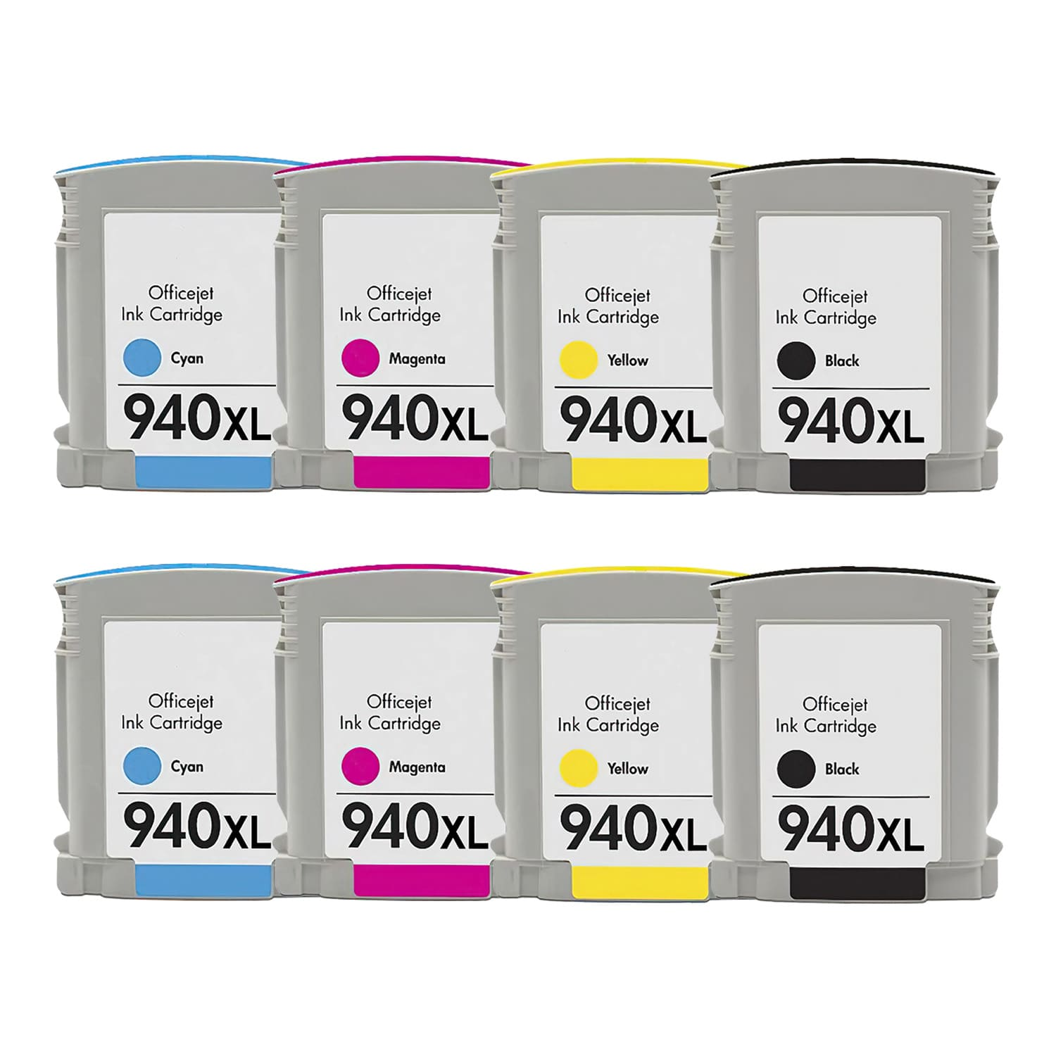 Remanufactured HP 940XL Inkjet High Capacity Pack - 8 Cartridges