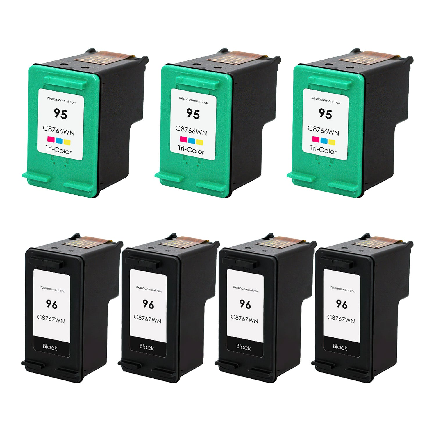 Remanufactured HP 95-96 Inkjet Pack - 7 Cartridges