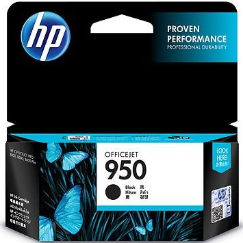 HP 950 Black Ink Cartridge - HP Genuine OEM (Black)