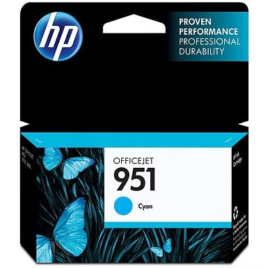 HP 951 Cyan Ink Cartridge - HP Genuine OEM (Cyan)