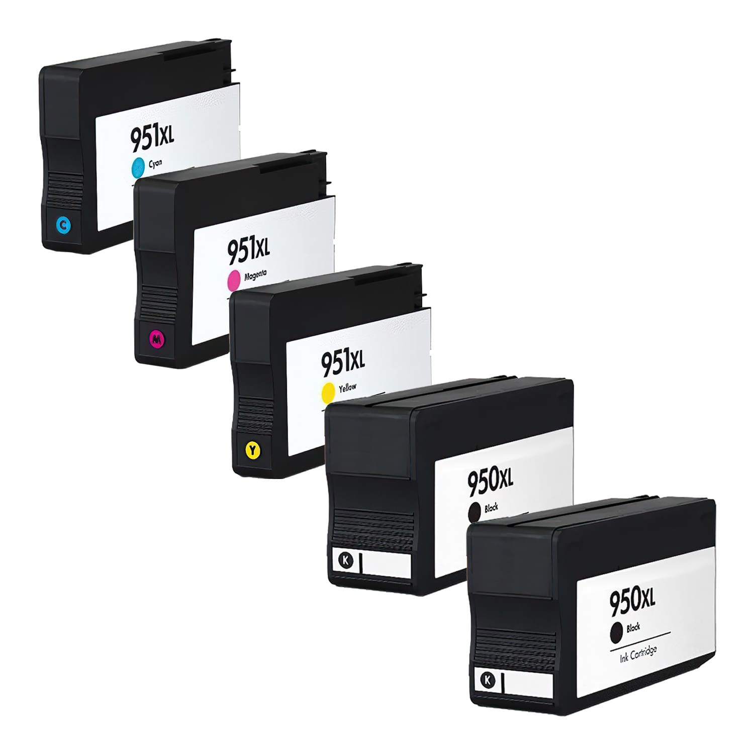 Remanufactured HP 951XL-950XL Inkjet High Capacity Pack - 5 Cartridges