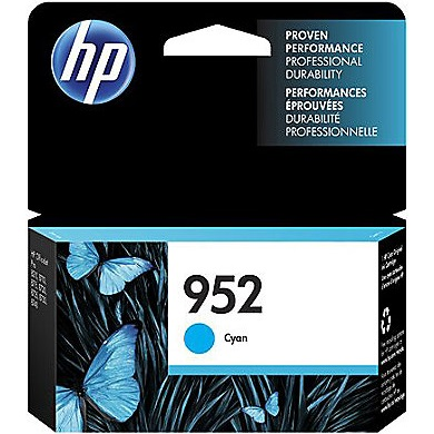 HP 952 Cyan Ink Cartridge - HP Genuine OEM (Cyan)