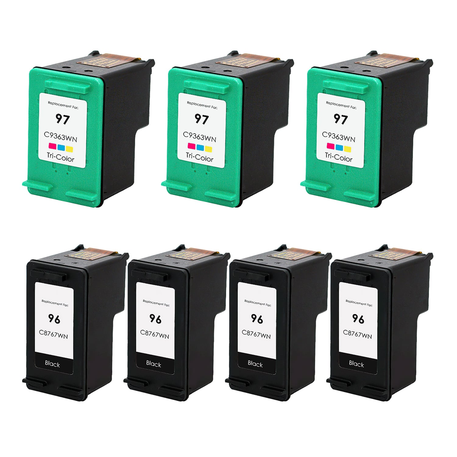 Remanufactured HP 97-96 Inkjet Pack - 7 Cartridges