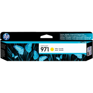 HP 971 Yellow Ink Cartridge - HP Genuine OEM (Yellow)