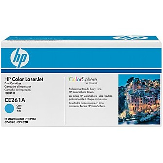 CE261A Toner Cartridge - HP Genuine OEM (Cyan)