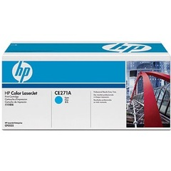CE271A Toner Cartridge - HP Genuine OEM (Cyan)