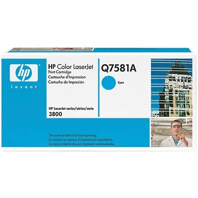 Q7581A Toner Cartridge - HP Genuine OEM (Cyan)