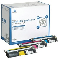 1710595-002 Toner Cartridge - Konica-Minolta Genuine OEM (Bundle Pack)