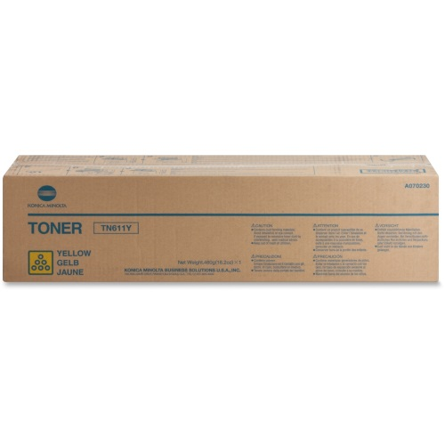 A070230 Toner Cartridge - Konica-Minolta Genuine OEM (Yellow)