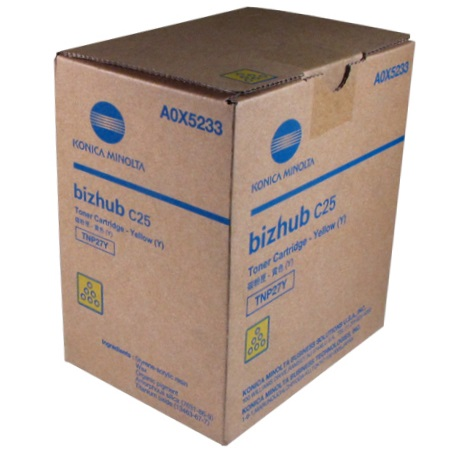 A0X5233 Toner Cartridge - Konica-Minolta Genuine OEM (Yellow)