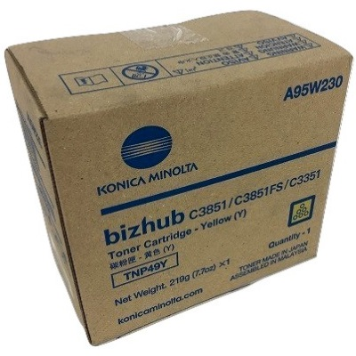 A95W230 Toner Cartridge - Konica-Minolta Genuine OEM (Yellow)