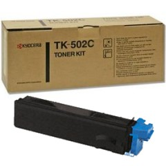 TK-502C Toner Cartridge - Kyocera Mita Genuine OEM (Cyan)