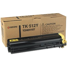 TK-512Y Toner Cartridge - Kyocera Mita Genuine OEM (Yellow)