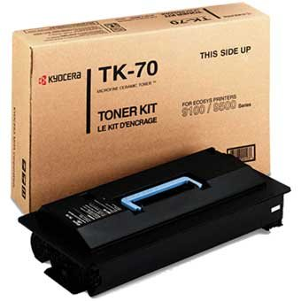 TK-70 Toner Cartridge - Kyocera Mita Genuine OEM (Black)