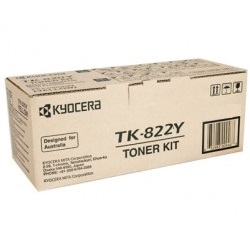TK-822Y Toner Cartridge - Kyocera Mita Genuine OEM (Yellow)