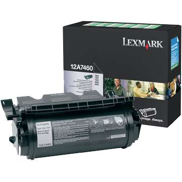 12A7460 Toner Cartridge - Lexmark Genuine OEM (Black)
