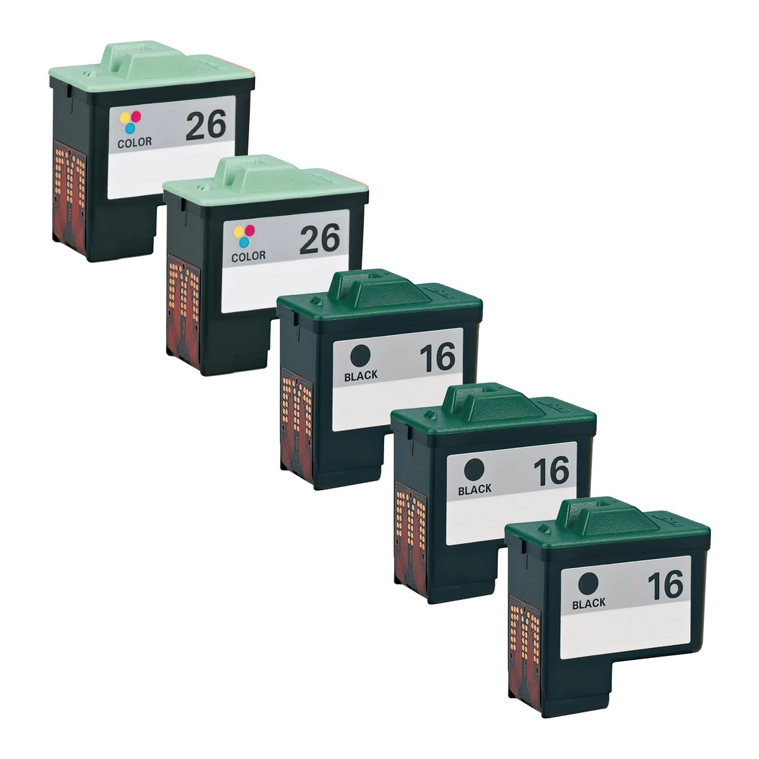 Remanufactured Lexmark 26-16 Inkjet High Capacity Pack - 5 Cartridges