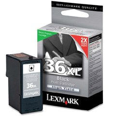 Lexmark #36XL Ink Cartridge - Lexmark Genuine OEM (Black)