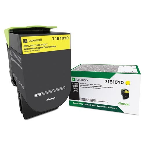 71B10Y0 Toner Cartridge - Lexmark Genuine OEM (Yellow)