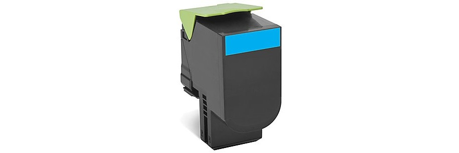80C1HC0 Toner Cartridge - Lexmark Remanufactured (Cyan)