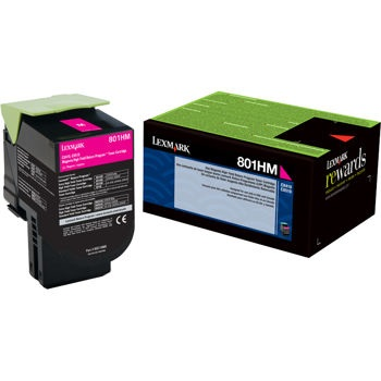 80C1HM0 Toner Cartridge - Lexmark Genuine OEM (Magenta)