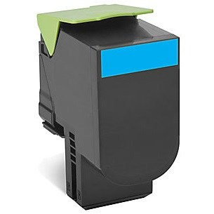 80C1SC0 Toner Cartridge - Lexmark Compatible (Cyan)