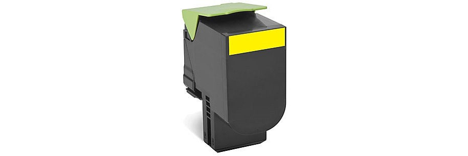 80C1SY0 Toner Cartridge - Lexmark Remanufactured (Yellow)