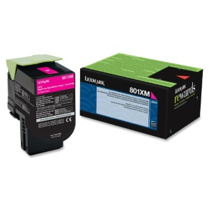 80C1XM0 Toner Cartridge - Lexmark Genuine OEM (Magenta)