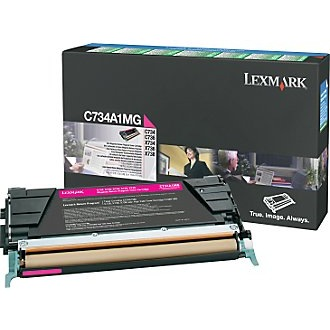 C734A1MG Toner Cartridge - Lexmark Genuine OEM (Magenta)