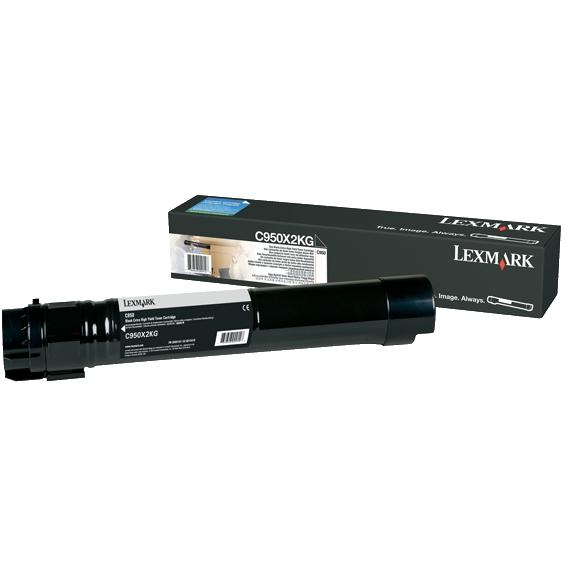 C950X2KG Toner Cartridge - Lexmark Genuine OEM (Black)