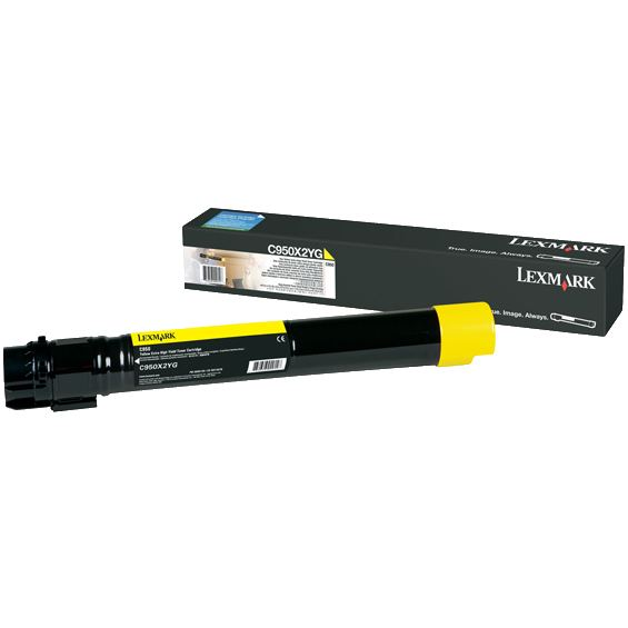 C950X2YG Toner Cartridge - Lexmark Genuine OEM (Yellow)