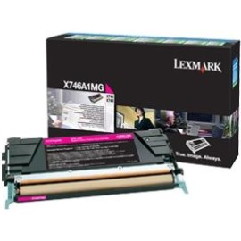 X746A1MG Toner Cartridge - Lexmark Genuine OEM (Magenta)