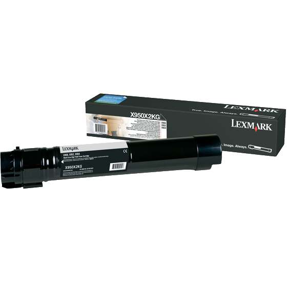 X950X2KG Toner Cartridge - Lexmark Genuine OEM (Black)