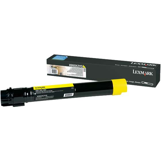 X950X2YG Toner Cartridge - Lexmark Genuine OEM (Yellow)