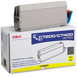 41304205 Toner Cartridge - Okidata Genuine OEM (Yellow)
