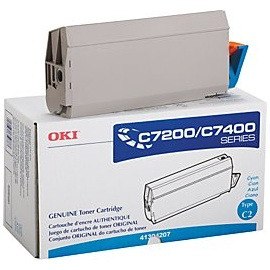 41304207 Toner Cartridge - Okidata Genuine OEM (Cyan)