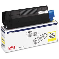 43034801 Toner Cartridge - Okidata Genuine OEM (Yellow)