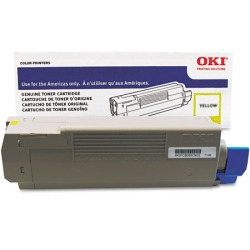 43837125 Toner Cartridge - Okidata Genuine OEM (Yellow)
