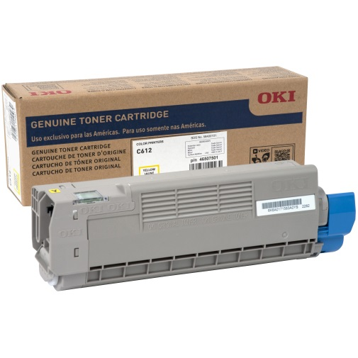 46507501 Toner Cartridge - Okidata Genuine OEM (Yellow)