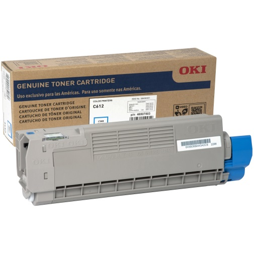46507503 Toner Cartridge - Okidata Genuine OEM (Cyan)