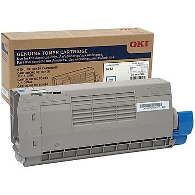 46507603 Toner Cartridge - Okidata Genuine OEM (Cyan)