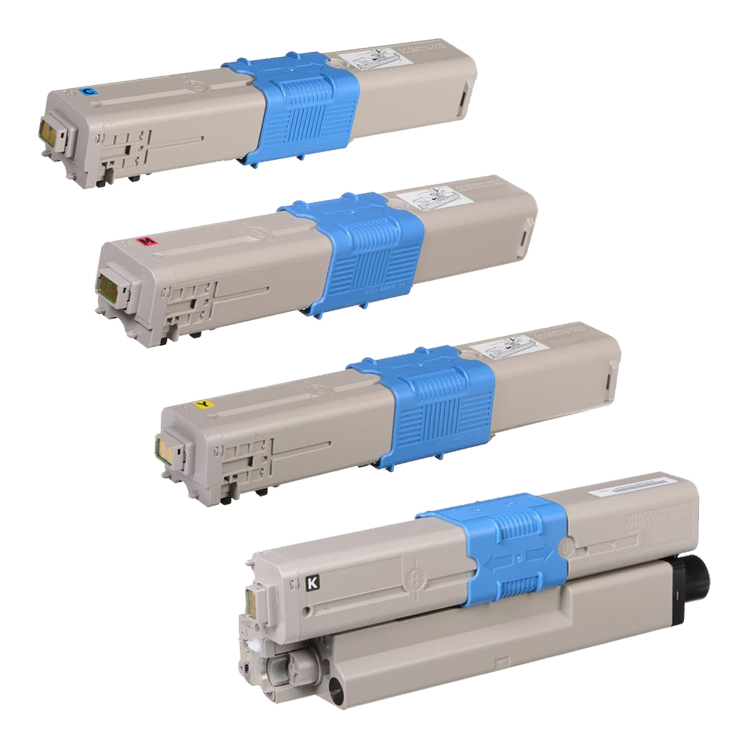 Remanufactured Okidata MC561 Toner Pack - 4 Cartridges