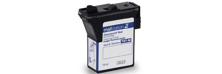 797-M Ink Cartridge - Pitney Bowes Compatible (Red)
