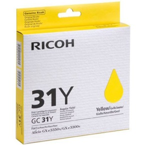Ricoh 405691 Ink Cartridge - Ricoh Genuine OEM (Yellow)