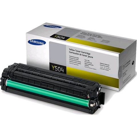 CLT-Y504S Toner Cartridge - Samsung Genuine OEM (Yellow)