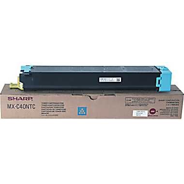 MX-C40NTC Toner Cartridge - Sharp Genuine OEM (Cyan)