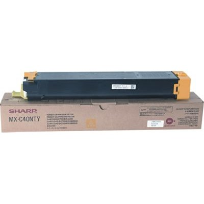 MX-C40NTY Toner Cartridge - Sharp Genuine OEM (Yellow)