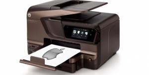 Apple Logo printed from HP Printer